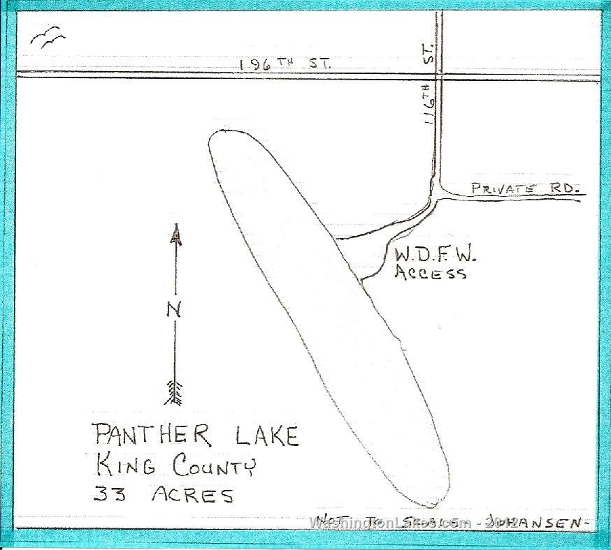 Panther lake information northwest fishing reports for Wdfw fishing emergency rules