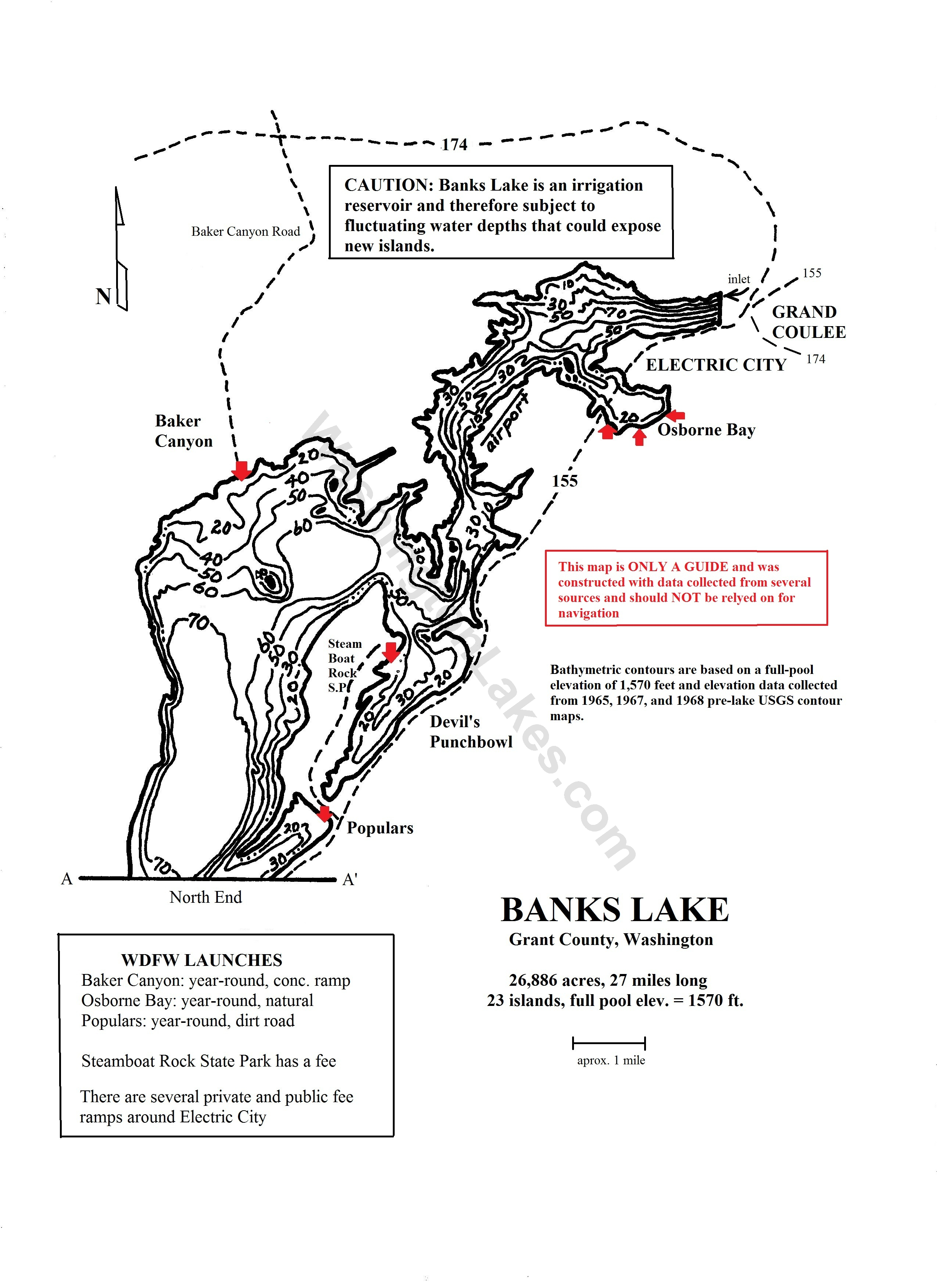 Banks lake information northwest fishing reports for Wash state fishing reports